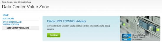 Cisco UCS TCO-ROI Tool