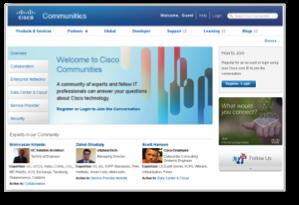 Cisco community screenshot