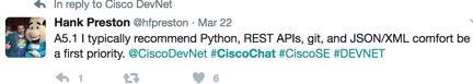 Cisco Chat DevNet Developer