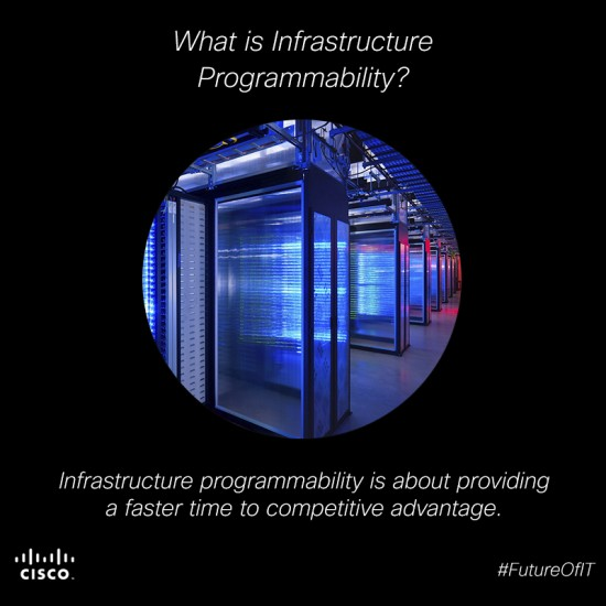 Infrastructure programmability is providing a faster time to competitive advantage.