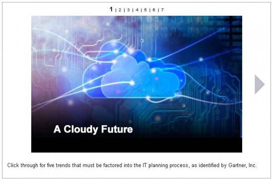 Cloudy Future SlideShow by Gartner
