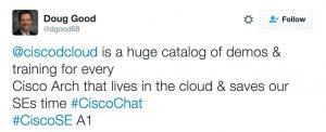 Doug Good dCloud Cisco Chat