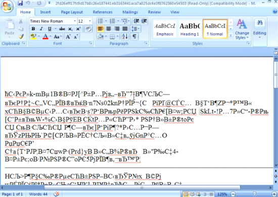 Example of Malicious Word Document