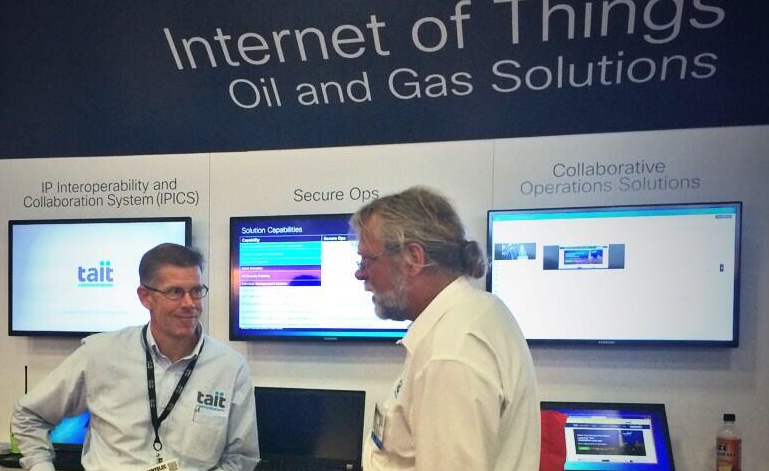 Shawn Birch in the Cisco ENTELEC booth