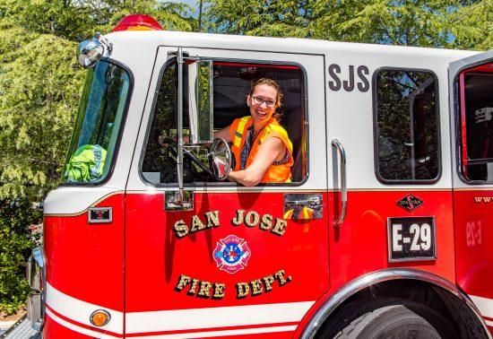 Jennifer in a Fire Truck