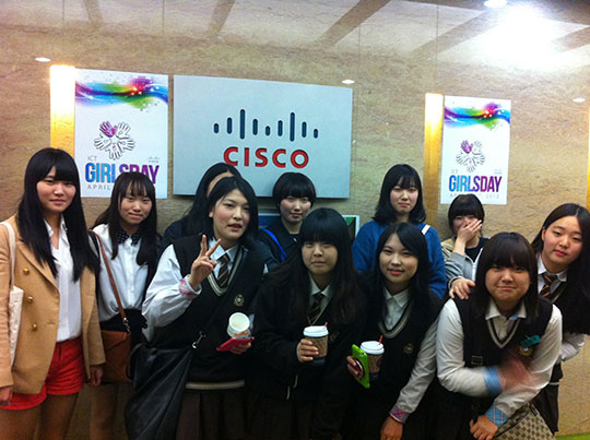 Students from Yangyong Digital High School visited the Cisco office in Seoul, South Korea as part of International Girls in ICT Day