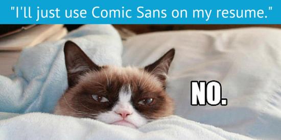 Grumpy Cat Resume Meme