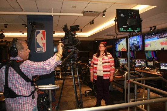 Deborah and the other Cisco Networking Academy students were asked to talk about their excitement before working NBA All Star 2015