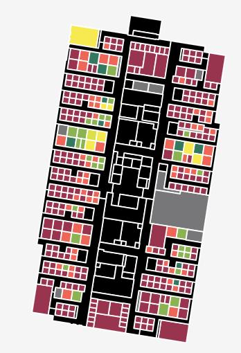 Occupancy utilization heat map of a building