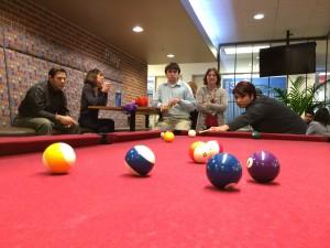 Digital Hoopla Team Playing Pool