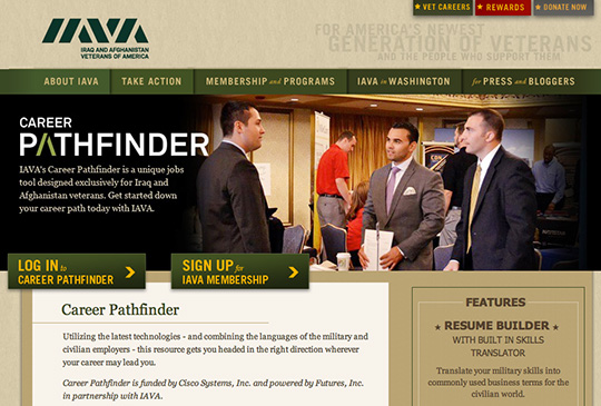 The IAVA Career Pathfinder is free online tool for U.S. military veterans
