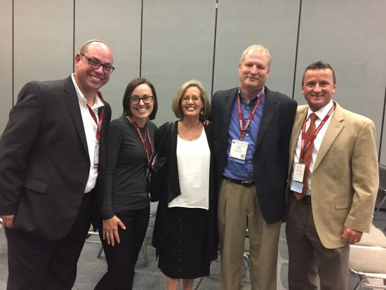 From L to R: Dov Friedman, CirQlive; Tracy Atkins, GSU; me; Kevin Reeve, USU; and Shane Milam, Mercer.