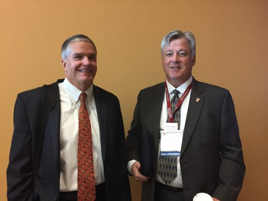 (Peter Romness, left and Bob Turner, CISO at the University of Wisconsin-Madison)