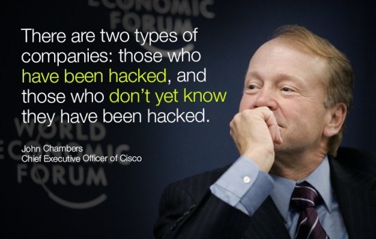 WEF graphic - John Chambers on Security 2014