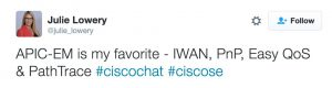 Julie Lowery Cisco Chat dCloud