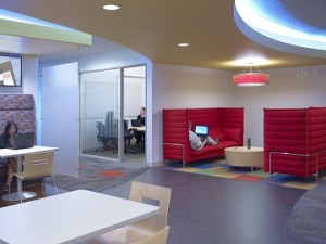 Open Office Space at Cisco's Building Eight