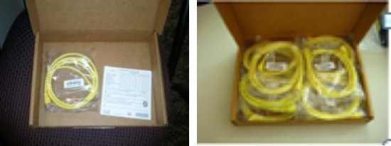 Before and after cable packaging