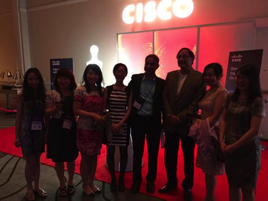Pankaj Patel, EVP and Chief Development Officer, and Vinod Peris, VP Engineering, met with IEEE Women Engineers from Shanghai during Cisco's Networking Reception.