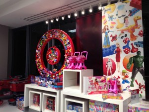 target Xmas Toy Display