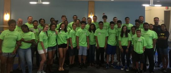 Cisco RTP hosted over 30 local students on campus during last week's CyberCamp