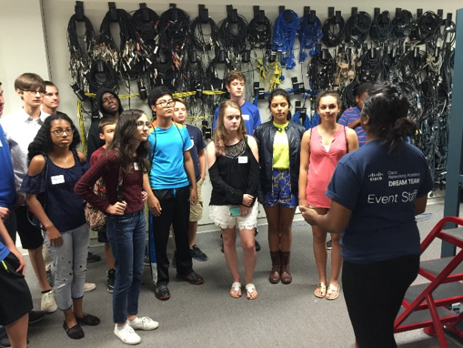 Cisco TAC engineers took students on TAC lab tours during CyberCamp, inspiring the young men and women to pursue careers in the cybersecurity field.