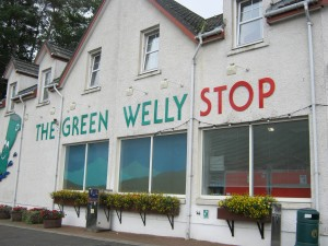 Fantastic hot chocolate break at the Green Welly Stop in Tyndrum
