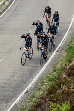 Cisco Team Climbing Up Though Glencoe