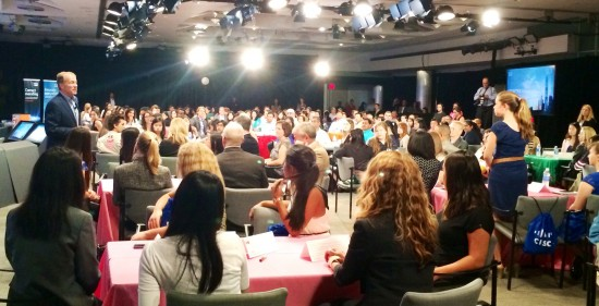Cisco CEO John Chambers addresses Cisco senior leaders and 100 Girls Scouts at Cisco Headquarters in San Jose, CA