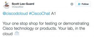 Scott Lee-Guard Cisco Chat dCloud