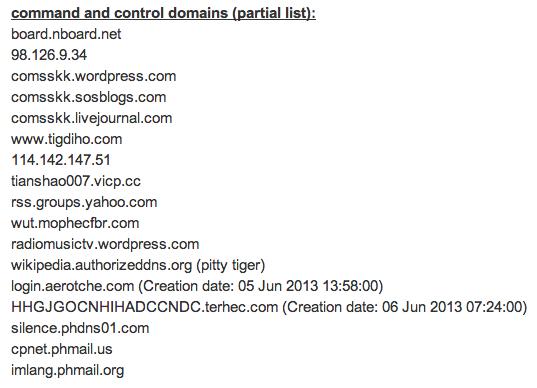 IoCs published by malwaretracker.com.
