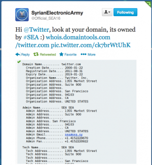 Syrian Electronic Army cracks Melbourne IT Registrar