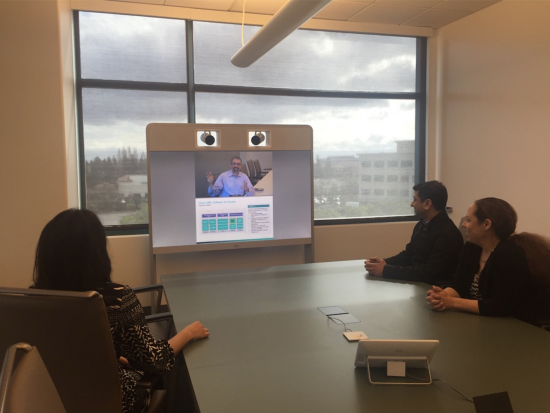 Cisco employees in Building 18 working smarter with Workspace Productivity