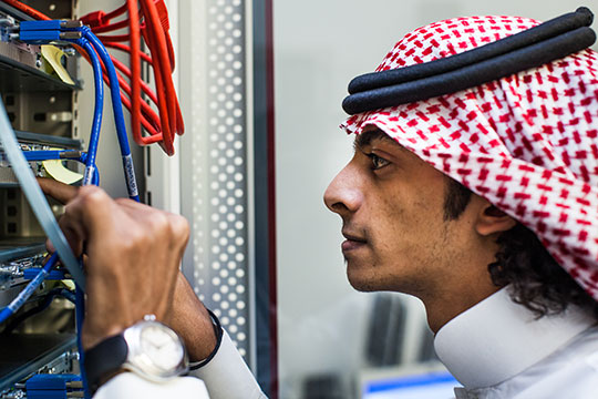 A partnership between Cisco Networking Academy and King Abdulaziz University in Saudi Arabia is helping to fight high unemployment among young men and fill a growing need among businesses for employees with work-ready information and communications technology (ICT) skills.