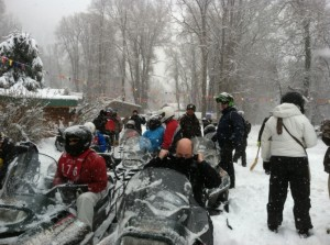 Snowmobiling at the 2012 Winter Sports Clinic