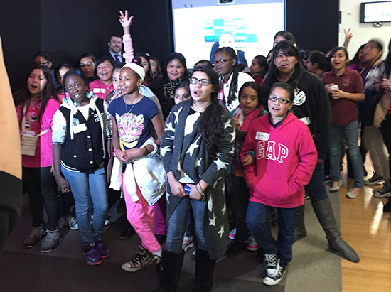 TechBridge girls toured the Cisco Executive Briefing Center