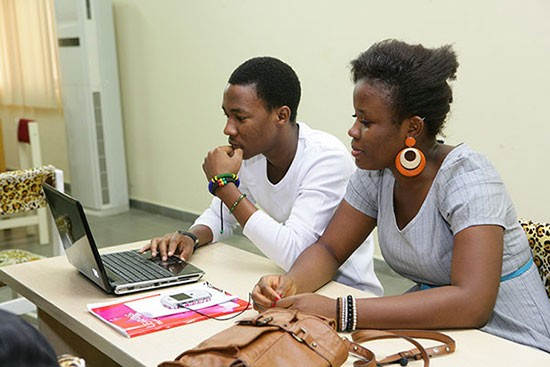 Students at the American University of Nigeria