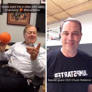 John Chambers and Chuck Robbins on Snapchat