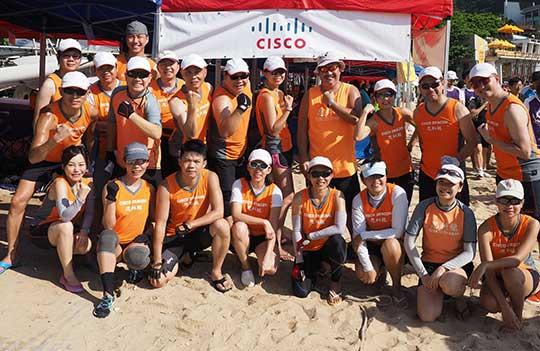 The Cisco Dragon Boat team