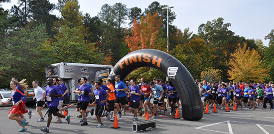 Close to 300 Cisco employees launched the 2013 Global Hunger Relief Campaign with a 5K to benefit the Food Bank of Central and Eastern North Carolina.