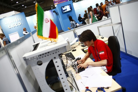 A student competes in Skill #39, IT Network Systems Administration, at WorldSkills 2013 in Leipzig, Germany. About 90% of Skill #39 competitors participate in Cisco Networking Academy. Photo courtesy WorldSkills.