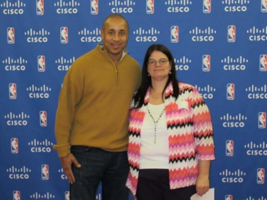 I was lucky enough to meet   NBA legend John  Sparks as part of the NBA All-Star 2015 experience!