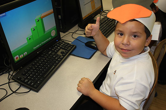 A student uses the ST Math program. Photo: MIND Research Institute