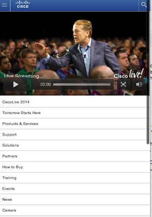 cisco live home page_mobile