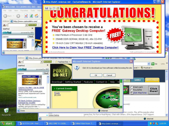 Figure 1: Advertising-supported software displays advertising in order to generate revenue for its authors. Users are used to tolerate the advertising and companies do not usually have a remediation plan for this type of software. The real risk that Adware poses to the users is not widely known.