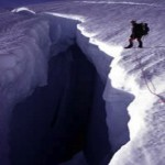 Crevasse on Mt. Ranier