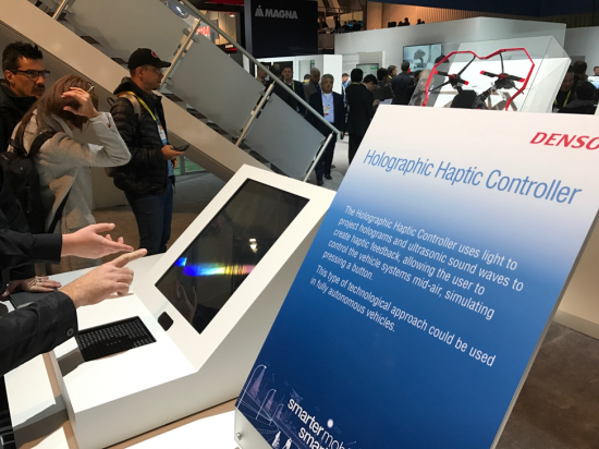 Denso Contactless Holographic Haptic Controller