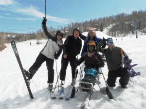 Downhill skiing at the 2012 Winter Sports Clinic