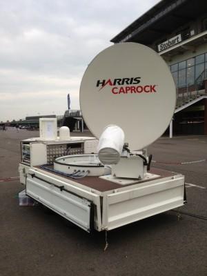 Harris Caprock provided the satellite uplink for internet access