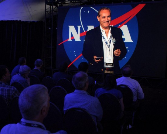 Helder Antunes spoke about the Internet of Everything and drones at the UTM Convention in July.  Photo Credit: NASA Ames Research Center