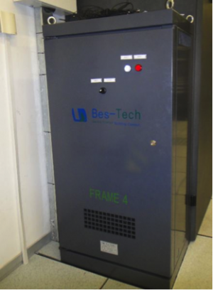 This new inverter allows variable control of fan motors and refrigerant flow, which improves efficiency of our computer room air conditioning units.